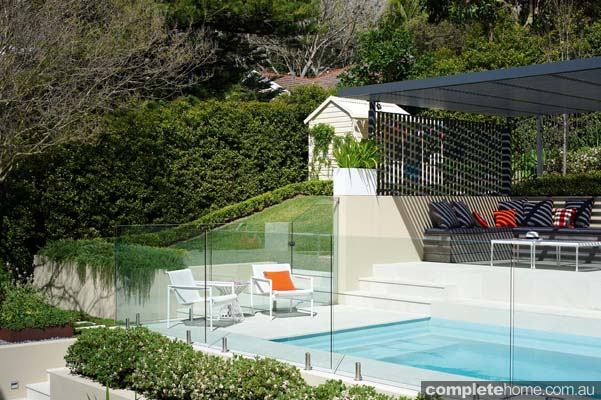 A family friendly pool and outdoor area design from Secret Gardens of Sydney.
