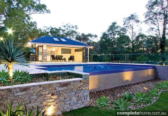 An integrated outdoor entertaining complex from A Total Concept.