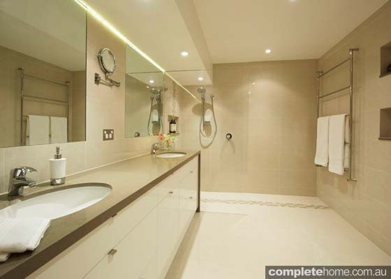 A luxurious bathroom design from Lets Talk Kitchens.