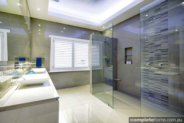 Bathroom double shower design decorticosis for Double shower bathroom designs
