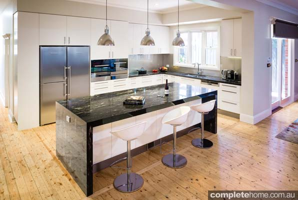 A modern kitchen design from Lets Talk Kitchens.