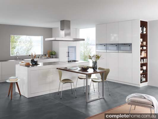 A modern kitchen decked out with V-ZUG appliances.
