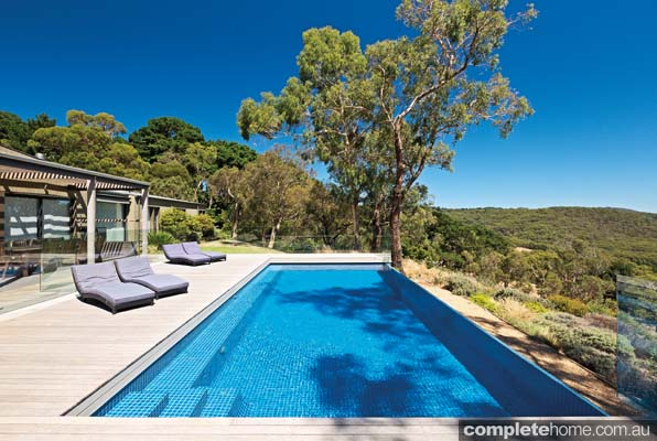A modern pool design that harmonises with the landscape for Modern pool designs