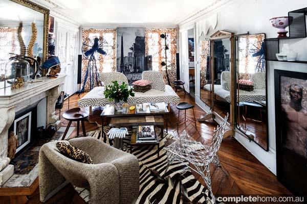 Sacha Walckhoffs apartment in Paris.