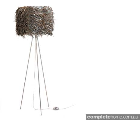 Spring style: rooster feather floor lamp