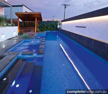A stunning modern pool design from Baden Pools