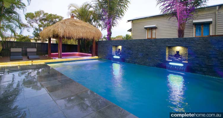 A Tropical Resort Style Pool From Malibu Pools