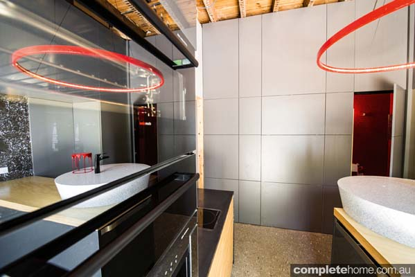 A unique kitchen design from Staron Solid Surfaces by Samsung.