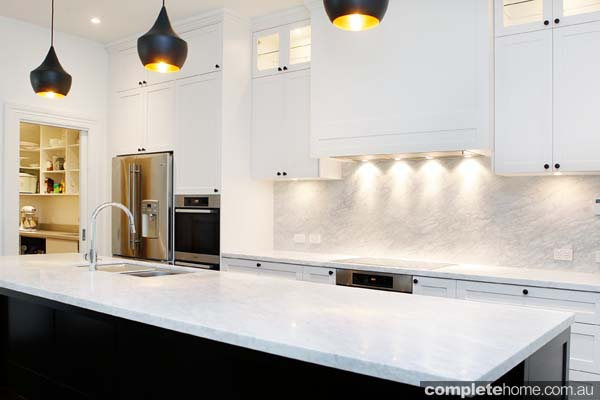 A contemporary kitchen design from The Kitchen Place.