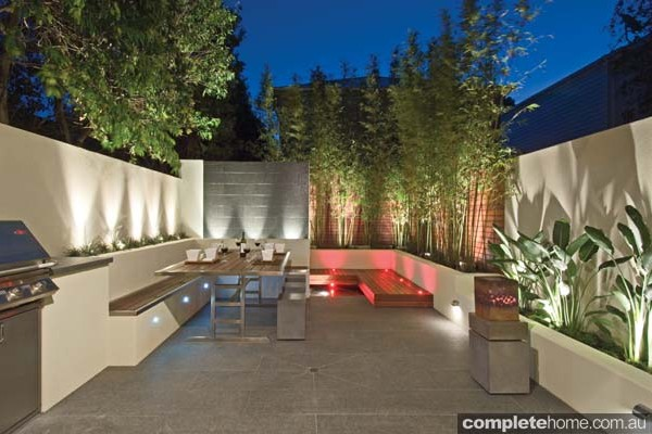 A private outdoor room in a terrace.