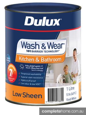 1L Dulux Wash & Wear Kitchen & Bathroom Low Sheen