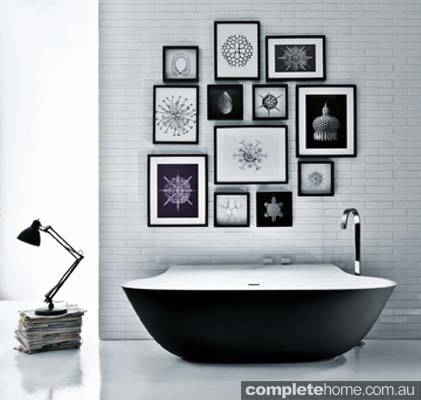 Falper scoopblack freestanding bath.