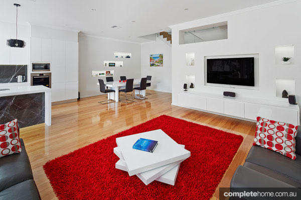 The living room of a duplex from M.A.G Constructions.