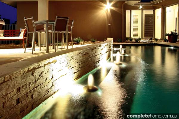 An award-winning pool and water feature design from Majestic Pools & Landscapes.