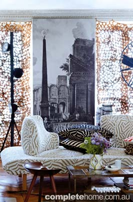 Eccentric Paris apartment belonging to the creative director of Christian Lacroix.