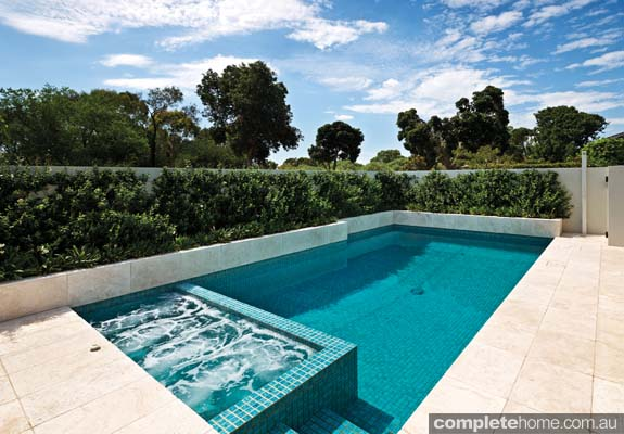 A fully functional family friendly pool design completehome for Pool design awards