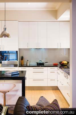 A modern kitchen design from Let's Talk Kitchens.