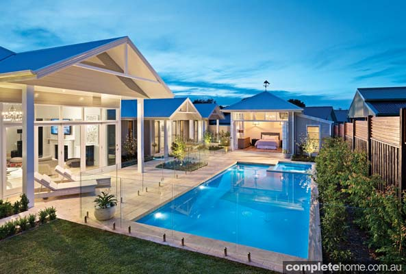 formal pool and landscape design completehome