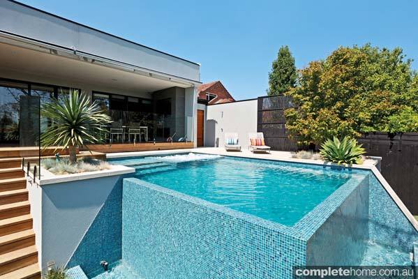 Modern Pool Design With Double Sided Infinity Edge