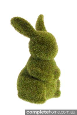 Spring Style: moss turf bunny