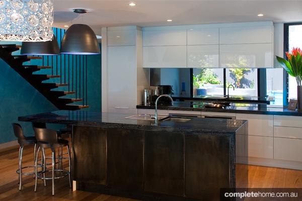 An ocean style kitchen design from Zesta Kitchens.