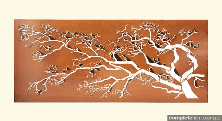 Laser Cut Metal Wall Art : Laser cut metal art the perfect touch to any outdoor area