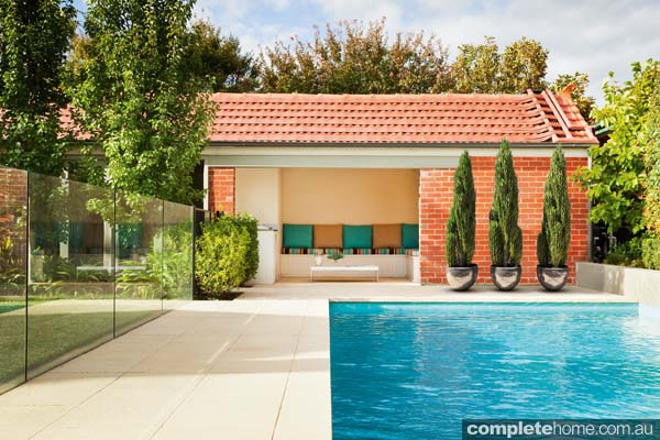 How to plan a swimming pool design completehome for Swimming pool cabanas
