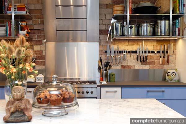 A vintage kitchen design.