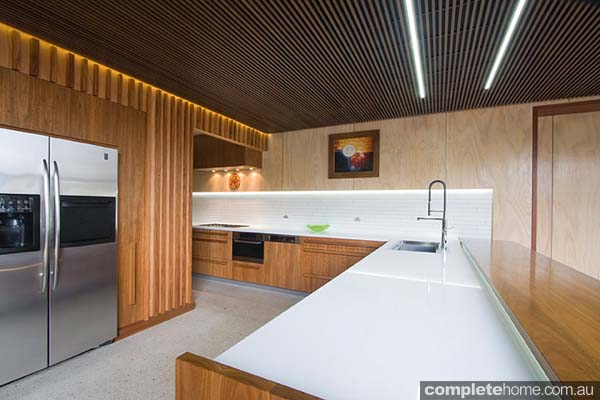 A welcoming timber kitchen design from Garsden & Clarke Kitchens.