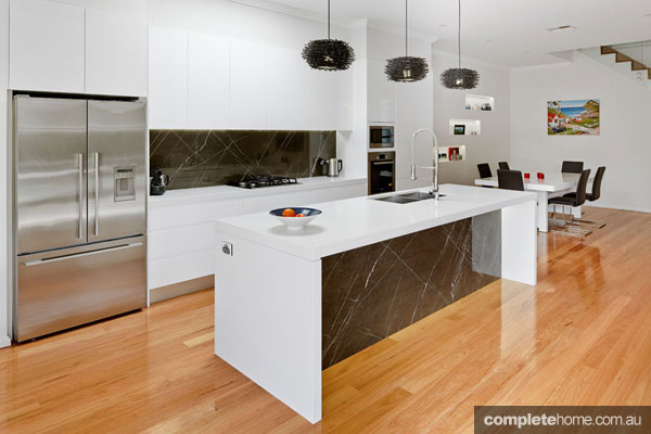 A contemporary kitchen in a duplex from M.A.G Constructions.