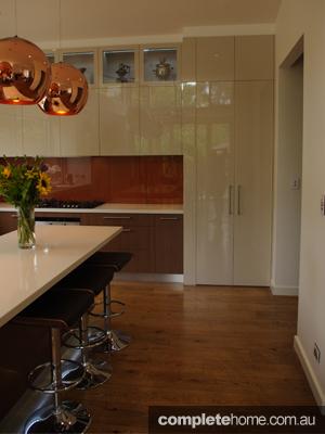 An artful kitchen design from Fresh Kitchen Solutions.