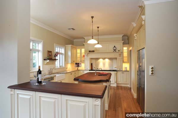 A heritage style kitchen with cream colours from Jag Kitchens.