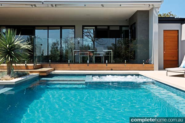 A modern pool design from Neptune Pools and Spas,