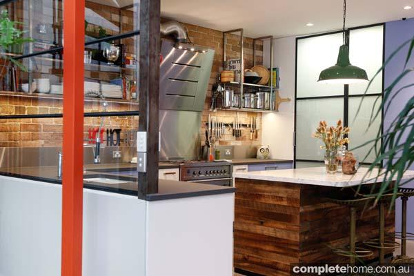 Modern meets vintage in this enchanting kitchen design.