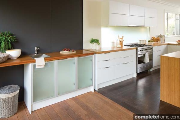 A multi-functional kitchen space from Kaboodle Kitchens