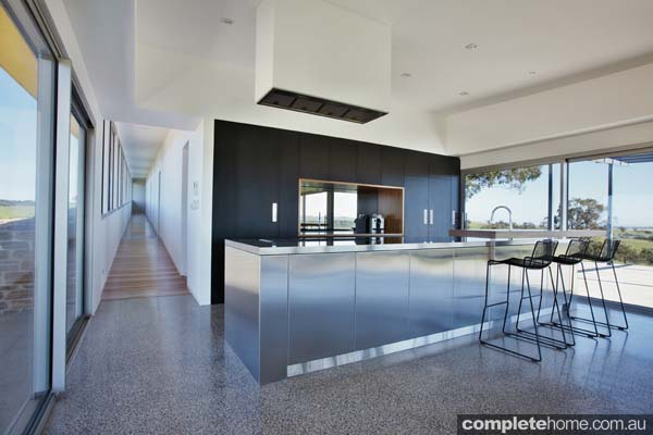 Stainless steel kitchen design trend from Barossa Grand Designs.
