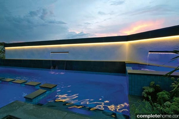 A stunning modern outdoor pool from Baden Pools.
