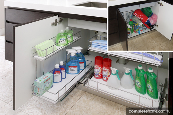Top 3 hidden storage ideas completehome for Hidden kitchen storage ideas