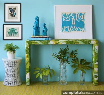 Sustainable interior design ideas: Portofino console from Eco Chic.