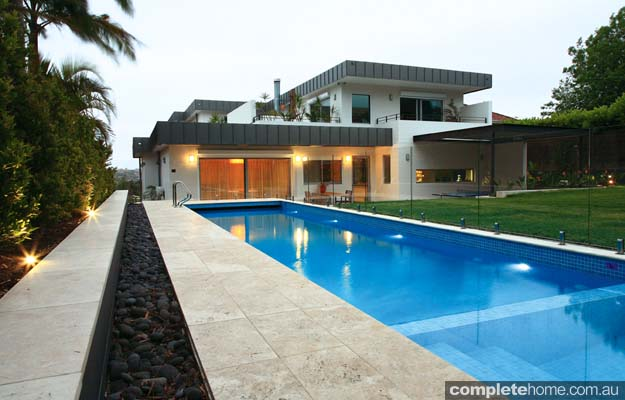 perfect harmony of formal and tropical in a designer landscape