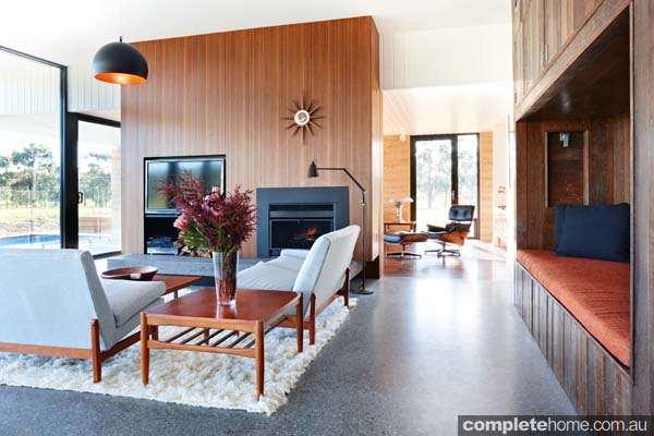 6 lovely living room designs completehome for Rammed earth home designs