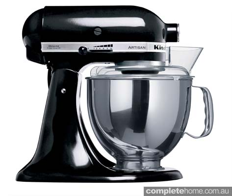 An Artisan KitchenAid mixer