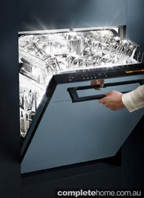 The new steam finish dishwasher from V-ZUG.