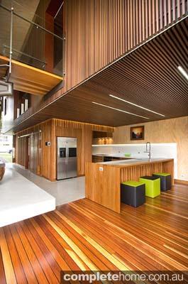 A warm timber kitchen design from Garsden & Clarke Kitchens.