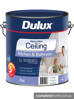 4L Dulux Wash & Wear Ceiling Flat