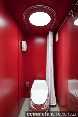 Container Guest House: composting toilet