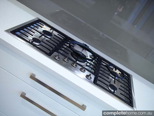 A cooktop in a contemporary kitchen design from Brilliant SA.