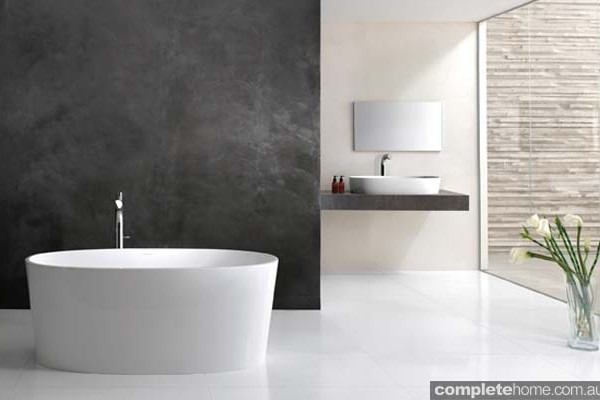 A modern freestanding IOS bath from Victoria and Albert's.