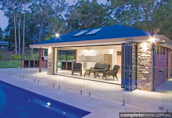 An outdoor entertaining complex from A Total Concept.
