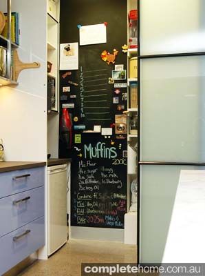 A quirky pantry in an enchanting kitchen.